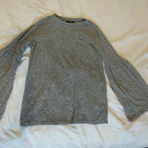 NWOT: Graphite Gray Bell Sleeve Sweater